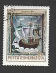 Sellos de Europa - Rumania -  Caravela tres palos