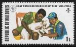 Sellos de Asia - Maldivas -  I Congreso Mundial de Niños Exploradores en África
