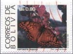 Stamps Bolivia -  Serie Mariposas