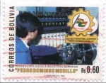 "Stamps of the world : Bolivia :  Bodas de Oro Escuela Industrial ""Pedro Domingo Murillo"""