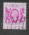 Stamps Hong Kong -  393 - Isabel II