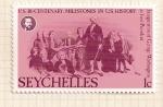 Stamps Africa - Seychelles -  Bicentenario de EEUU. Reunion con el presidente Washington.