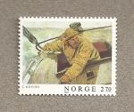Sellos del Mundo : Europa : Noruega : Arte moderno noruego