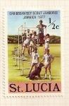 Stamps America - Saint Lucia -  Jamboree Boy Scout en Jamaica 1977.