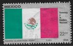 Sellos de America - México -  Bandera Nacional