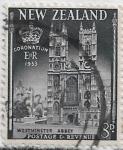 Sellos de Oceania - Nueva Zelanda -  Abadía de Westminster