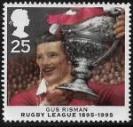 Sellos del Mundo : Europa : Reino_Unido : Gus Risman, centenario de la liga de Rugby