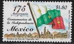 Sellos de America - México -  175 Aniversario de la consumación del la Independencia de México