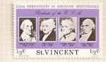 Sellos de America - San Vicente -  Bicentenario de EEUU. Presidentes: Washington, John Adams, Jefferson y Madison.