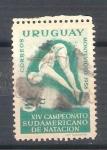 Sellos del Mundo : America : Uruguay : RESERVADO natación