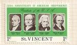 Stamps Saint Vincent and the Grenadines -  Bicentenario de EEUU, Presidentes: Monroe, John Quincy Adams, Jackson y Van Buren.