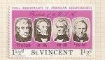 Stamps Saint Vincent and the Grenadines -  Bicentenario de EEUU. Presidentes: Harrison, Tyler, Polk y Taylor .