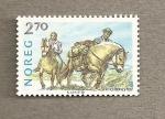 Stamps Norway -  Cria de caballos