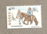 Stamps Europe - Norway -  Cria de caballos