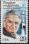 Sellos del Mundo : America : Estados_Unidos : Theodor von Karman, ingeniero aeroespacial