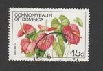 Stamps Antigua and Barbuda -  Flor Anthurium