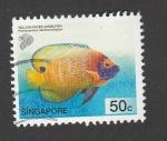 Sellos de Asia - Singapur -  Pez Cara de angel