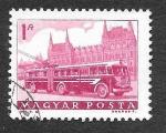 Stamps Hungary -  1515 - Tranvía