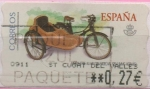 """Stamps of the world : Spain :  Motos """""""" Movylete 1954"""