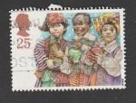 Stamps United Kingdom -  reyes magos muy jovenes