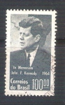 Sellos de America - Brasil -  Kennedy