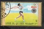 Stamps : Asia : United_Arab_Emirates :  Umm Al Qiwain - 96 - Olimpiadas Munich 72, lanzamiento de jabalína