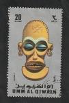 Stamps : Asia : United_Arab_Emirates :  Umm Al Qiwain - Máscara
