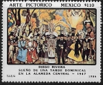 Sellos del Mundo : America : México :  Sueño de una tarde dominical en la Alameda Central