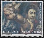 Sellos del Mundo : America : México :  David Alfaro Siqueiros 1896-1974