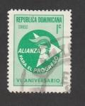 Stamps Dominican Republic -  VI Aniv. de la alianza para el progreso