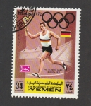 Stamps Yemen -  Juegos olímpicos Münich 72