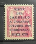 Stamps : Europe : Spain :  Visita del Caudillo a canarias 1950