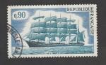 Stamps France -  Embarcación 5 mástiles Francia II