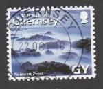 Sellos de Europa - Reino Unido -  Guernsey nubes entre montañas