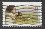 Sellos de America - Estados Unidos -  Primer navegante que cruzó a Asia
