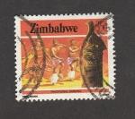 Sellos de Africa - Zimbabwe -  Danza tradicional