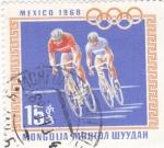 Stamps Mongolia -  OLIMPIADA DE MEXICO'68