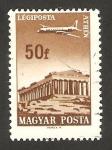 Sellos de Europa - Hungría -  280 - Avión sobrevolando Atenas