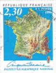 Stamps Europe - France -  INSTITUTO GEOGRÁFICO NACIONAL