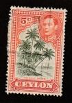 Sellos de Asia - Sri Lanka -  Cocoteros
