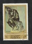Stamps Asia - United Arab Emirates -  Fujeira - 79 - El Pensador, escultura de Rodin