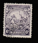 Stamps America - Barbados -  monumento a Britania