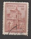 Stamps America - Ecuador -  Fachada del templo de la compañia de Jesús