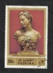 Stamps Asia - United Arab Emirates -  Fujeria - 135 - Escultura de Carpeaux, Busto de Amelie de Monfort