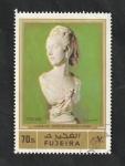 Stamps : Asia : United_Arab_Emirates :  Fujeria - 135 - Escultura de Carpeaux, Busto de Madame Turner