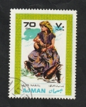 Stamps United Arab Emirates -  Ajman - 27 - Traje típico