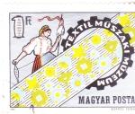 Sellos del Mundo : Europa : Hungría : MUSEO TEXTIL