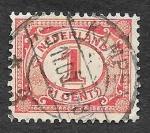 Sellos de Europa - Holanda -  56 - Cifra