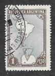 Stamps Argentina -  594 - Mapa de Sudamérica