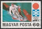 Sellos del Mundo : Europa : Hungría : 2201 - Juegos de invierno Sapporo 72, descenso